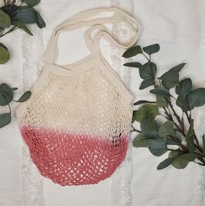 Camp Collection Dip Dyed Market Tote in Pink
